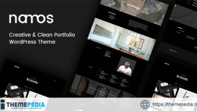 Namos – Creative One-Multi-Page Portfolio WordPress Theme [Free download]