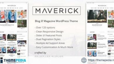 Maverick – A WordPress Magazine Theme [Free download]