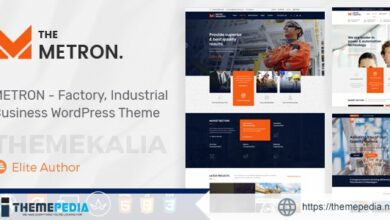 Metron – Industry and Construction WordPress Theme [Free download]