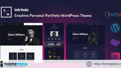 Intrinsic – Creative Personal Portfolio WordPress Themes [Updated Version]