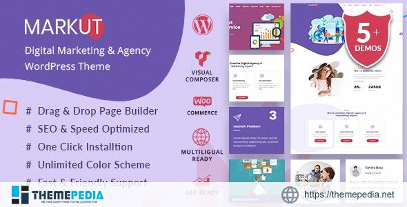 Markut – Digital Marketing & Agency WordPress Theme [Free download]