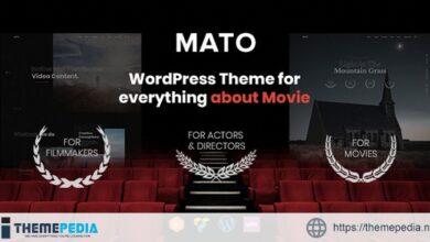 Mato – Movie Studios and Filmmakers WordPress Theme [Free download]