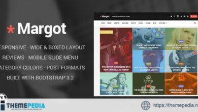 Margot – Responsive WordPress News Theme [Free download]