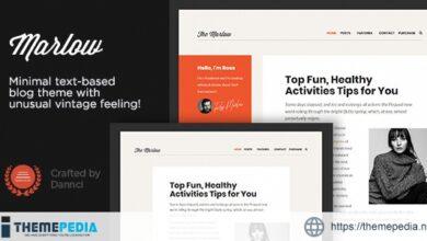 Marlow – Distinctive, Typography-First WordPress Blog Theme [Free download]
