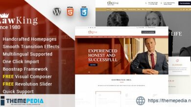 Lawking – Lawyer and Attorney Responsive WordPress Theme [Free download]