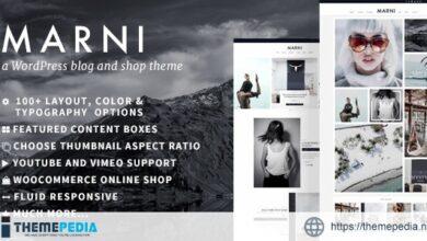 Marni – a WordPress Blog & Shop Theme [Free download]