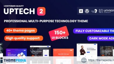 Uptech -IT Solutions & Services WordPress Theme [Free download]