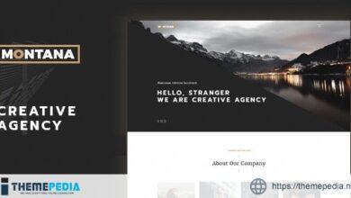 Montana – Modern & Complete One Page Portfolio WordPress Theme [Updated Version]