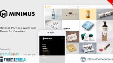 Minimus – Minimal, Portfolio WordPress Theme for Creatives [Free download]