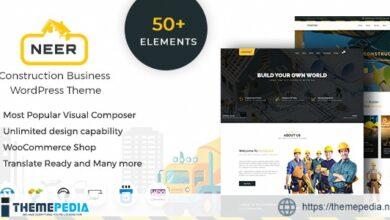 Neer – Construction Business WordPress Theme [Free download]