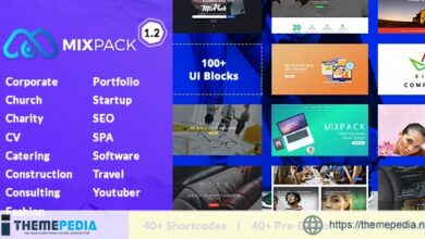 MixPack – Multipurpose WordPress Theme – Consultancy, Travel, Food, Software…With Page Builder [Free download]