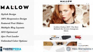 Mallow – Lifestyle Blog & Magazine WordPress Theme [Free download]
