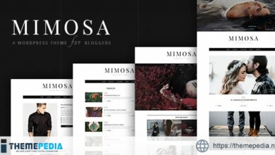 Mimosa – WordPress Theme for Bloggers [Free download]
