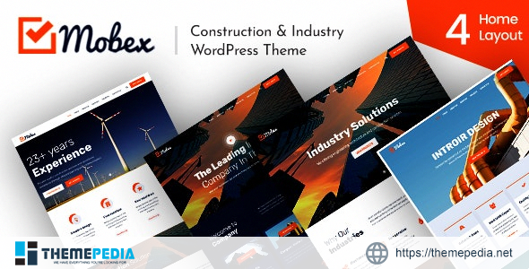 Mobex – Construction & Industry WordPress Theme [Free download]