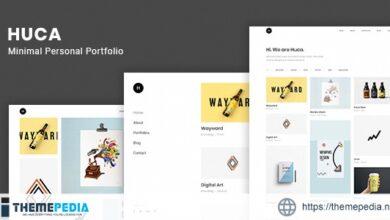 Huca – Minimal Portfolio WordPress Theme [Free download]