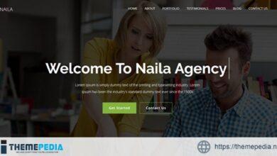 Naila – One Page MultiPurpose WordPress Theme [Free download]