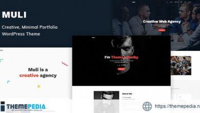 Muli – Creative, Minimal Portfolio WordPress Theme [Free download]