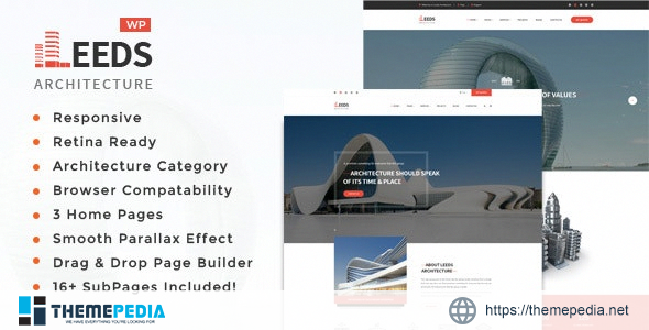 Leeds -Interior Design WordPress Theme [Free download]