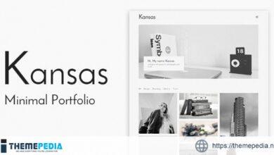 Kansas – Minimal Portfolio WordPress Theme [Free download]
