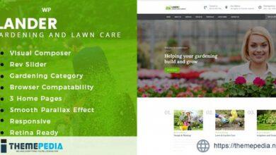 Lander -Landscaping WordPress Theme [Free download]