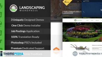 Landscaping – Lawn & Garden, Landscape Construction, & Snow Removal WordPress Theme [Free download]