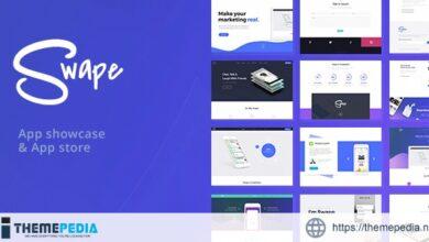Swape – App Showcase & App Store WordPress Theme [Free download]