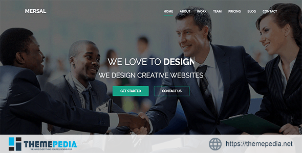 Mersal – One Page MultiPurpose WordPress Theme [Free download]