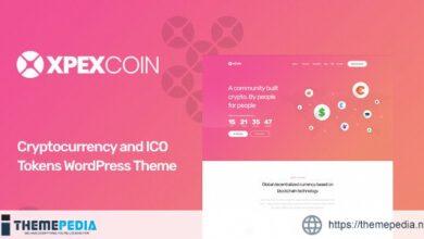 XPEXCoin – Cryptocurrency WordPress Theme [Free download]