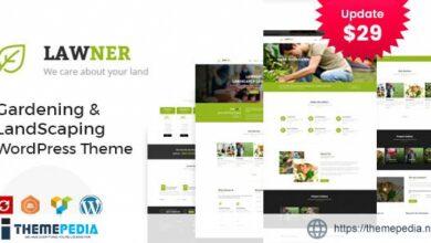 Lawner – Gardening and Landscaping WordPress theme [Free download]