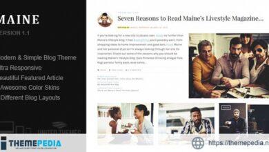 Maine – A Responsive WordPress Blog Theme [Free download]
