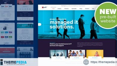Nanosoft – WP Theme for IT Solutions and Services Company [Free download]