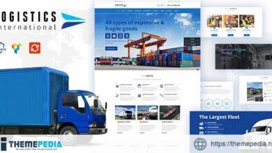 Logistics wordpress theme [Free download]