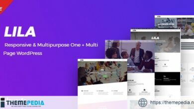Lila – One Page WordPress [Free download]