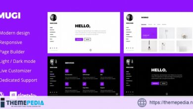 Mugi – Personal Portfolio & Resume WordPress Theme [Free download]