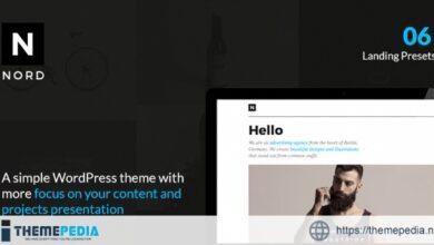NORD – Creative WordPress Theme with Focus on Content & Portfolio Presentation [Free download]