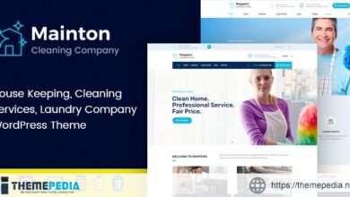 Mainton – Cleaning Services WordPress Theme [Free download]