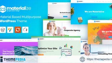 Materialize – Material Design Multipurpose WordPress Theme [Free download]