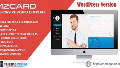 MilZinCard Resume – CV & Portfolio vCard WordPress Theme [Free download]