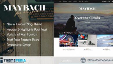 Maybach – A Responsive WordPress Blog Theme [Free download]