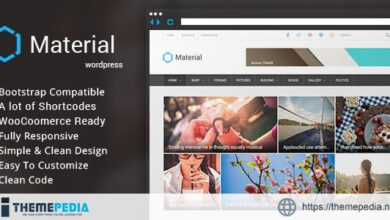 Material – Premium Magazine WordPress Theme [Free download]