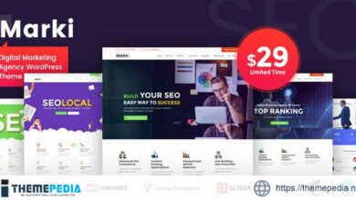 Marki – Digital Marketing Agency WordPress Theme [Free download]