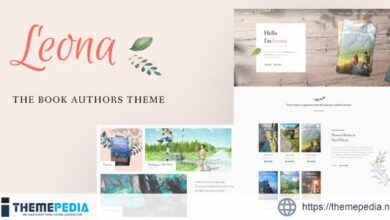 Leona – WordPress Theme for Book Writers and Authors [Free download]