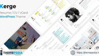 Kerge – CV Resume Theme [Free download]