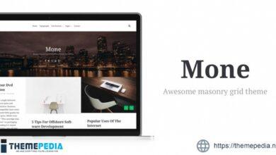 Mone – Responsive WordPress blog theme, masonry grid [Free download]