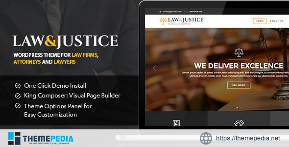 Law&Justice- Law Firm, Lawyers & Attorneys WordPress Theme [Free download]