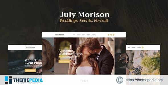 July Morison – An Alluring Event Photographer's Portfolio & Blog WordPress Theme [Free download]