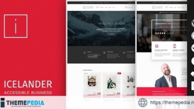 Icelander – Accessible Business Portfolio & WooCommerce WordPress Theme [Updated Version]