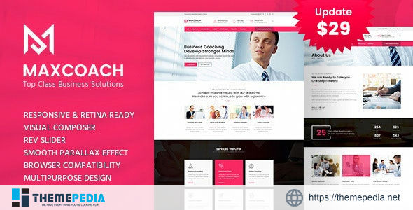 Maxcoach – Business Consulting WordPress Theme [Free download]