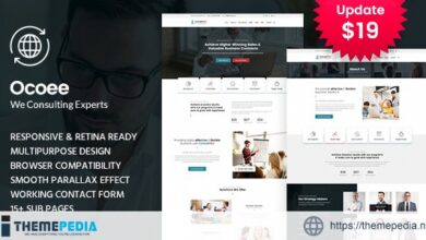 Ocoee – Consulting & Business WordPress Theme [nulled]