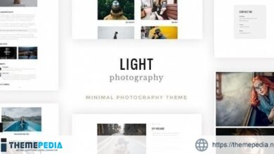 Light – Photography WordPress [Free download]